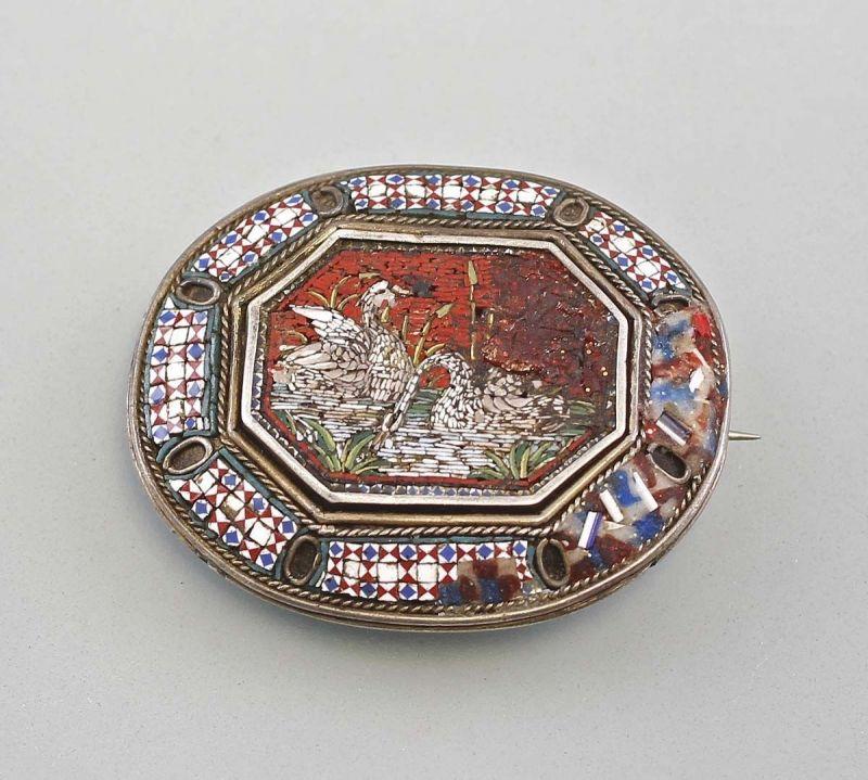 Millefiori Brosche mit Mosaikbild Venedig Italien 99825167
