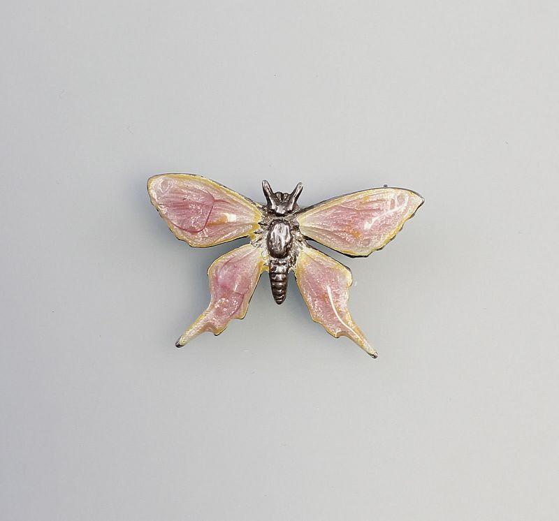 Emaillierte Brosche Schmetterling 9901283
