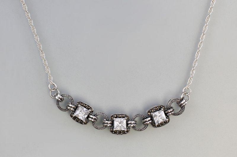 925er Silber Collier Zirkonia 9907136