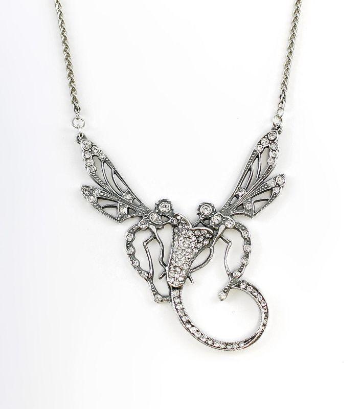 925er Silber Collier Libellen mit Swarovski-Steinen 9901123