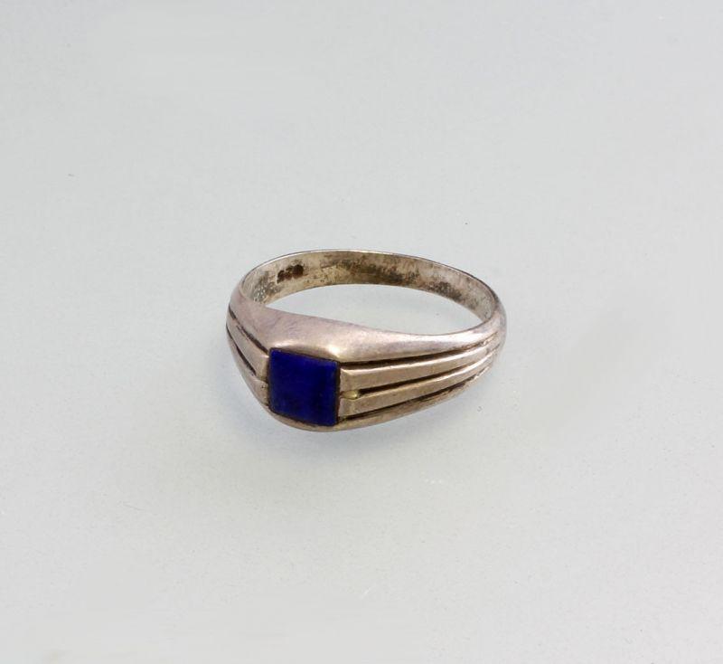 9926546 925er Silber Ring mit blauem Stein Gr.57