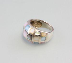 9925702 925er Silber Ring Perlmutt bunt Gr.59