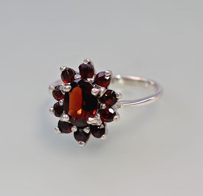 9927187 925er Silber Granat Ring Gr. 56