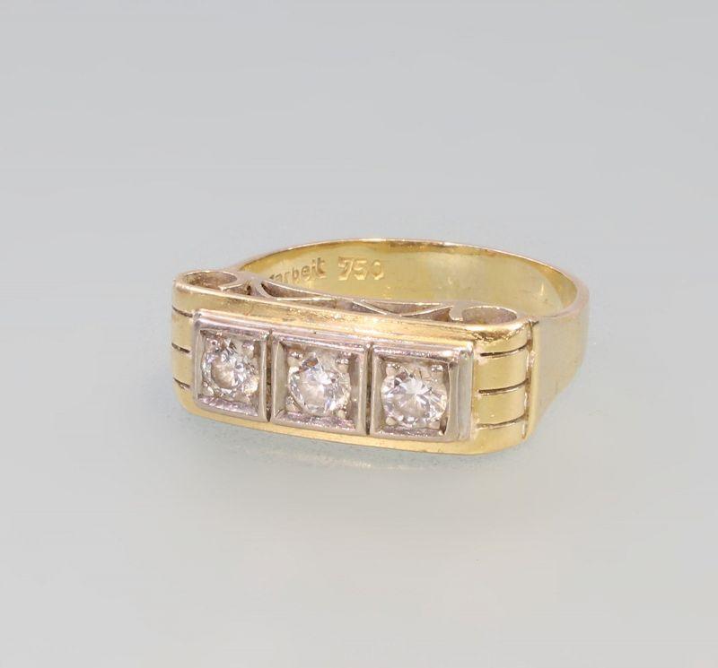 8325016 750er Gold Brillant-Ring Art deco alt