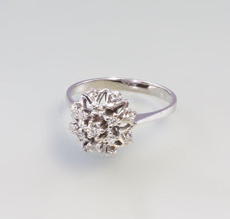 8325002 585er Gold Brillant-Ring Weißgold