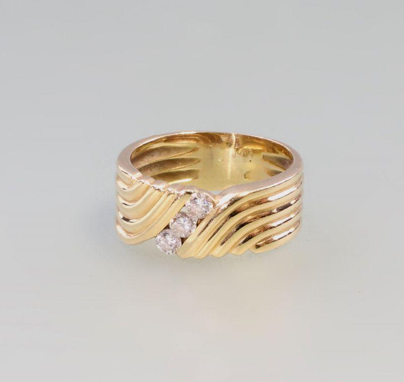 8325021 585er Gold Brillant-Ring 3 Brillanten zus. 0,21ct