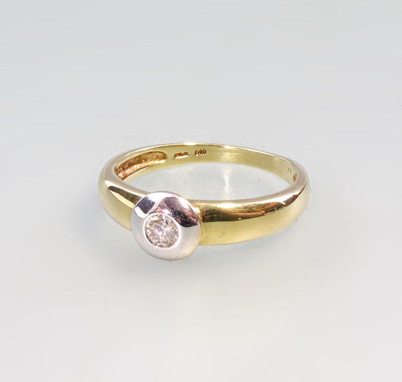 8325009 585er Gold Brillant-Ring Solitär