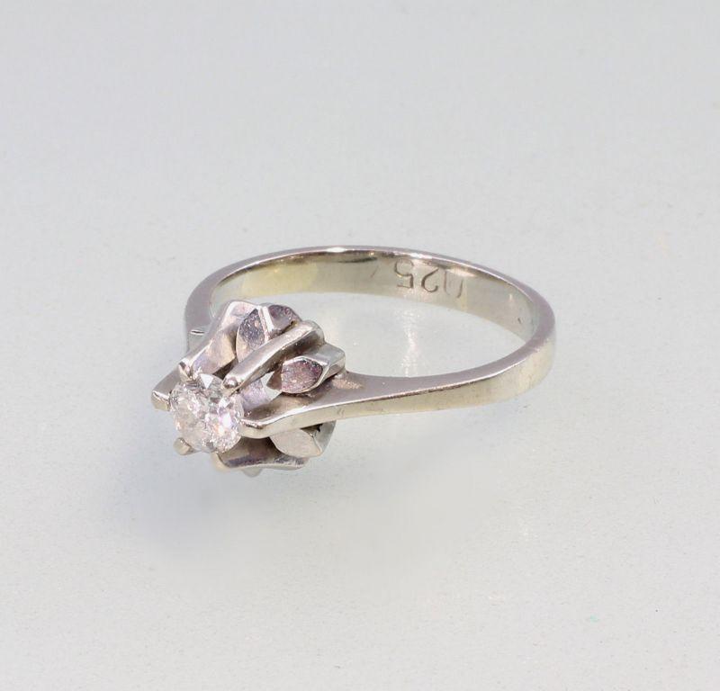 8325010 585er Gold Brillant-Solitär-Ring Weißgold