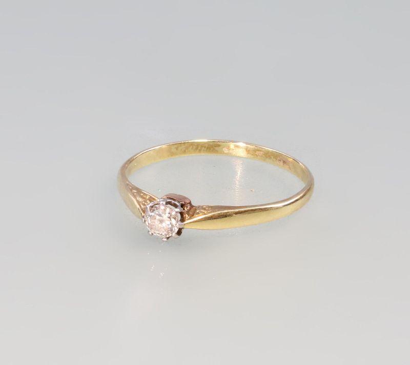 8325017 585er Gold Zarter Brillant-Solitär-Ring