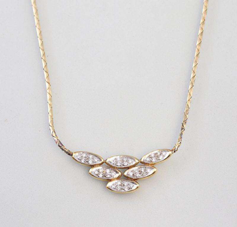 8325014 585er Gold Collier Brillant 0,25ct