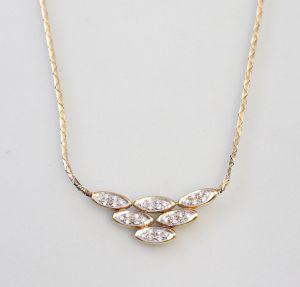 8325014 585er Gold Collier Brillant 0,25ct