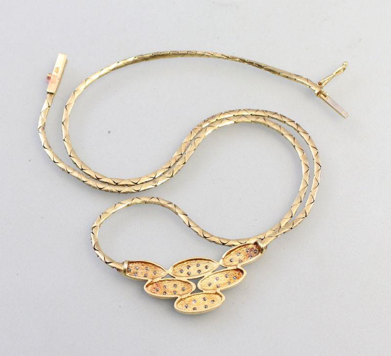 8325014 585er Gold Collier Brillant 0,25ct 1