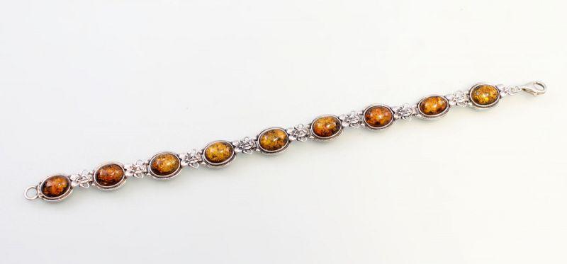 8325133 925er Silber Silbernes Bernstein-Armband
