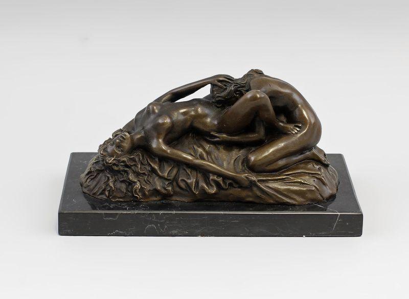 9937970-dss Lambeaux Skulptur Bronze Figur liebendes Frauen-Paar erotisch