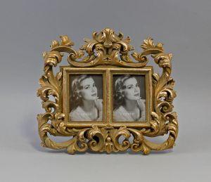 9977465 goldfarben Bilder-Rahmen Resin Vintage 2-tlg.25x22cm