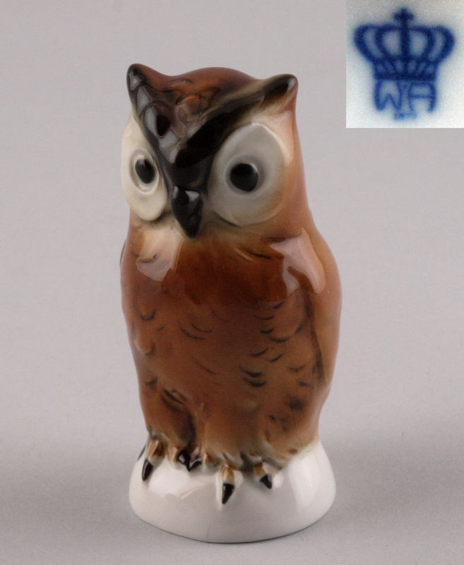 Porzellan-Figur Vogel kleine Eule Wagner & Apel H7,5cm 9942121