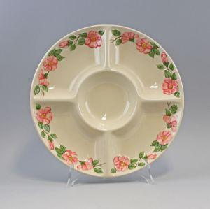 9918582 Keramik Majolika Portugal Teller Kabarettschale Wildrose D 32 cm