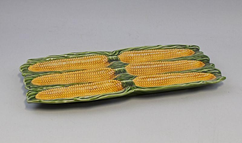 9918643 Keramik Majolika Portugal Vorlege-Platte Mais-Kolben
