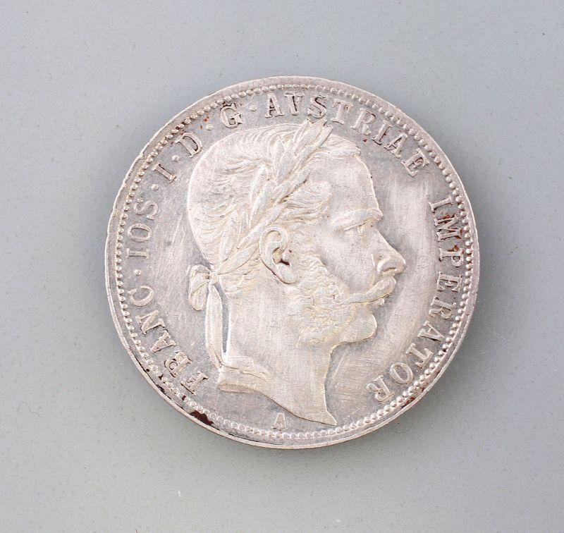 8308003 1 Florin 1866 Silber-Münze Franz Joseph I Österreich