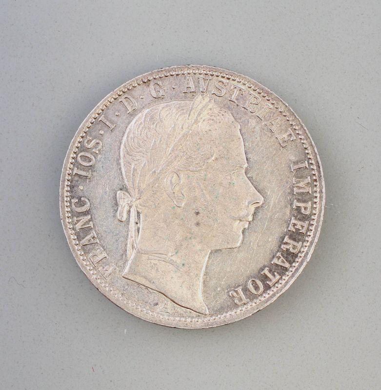 8308002 1 Florin 1861 Silber-Münze Franz Joseph I Österreich