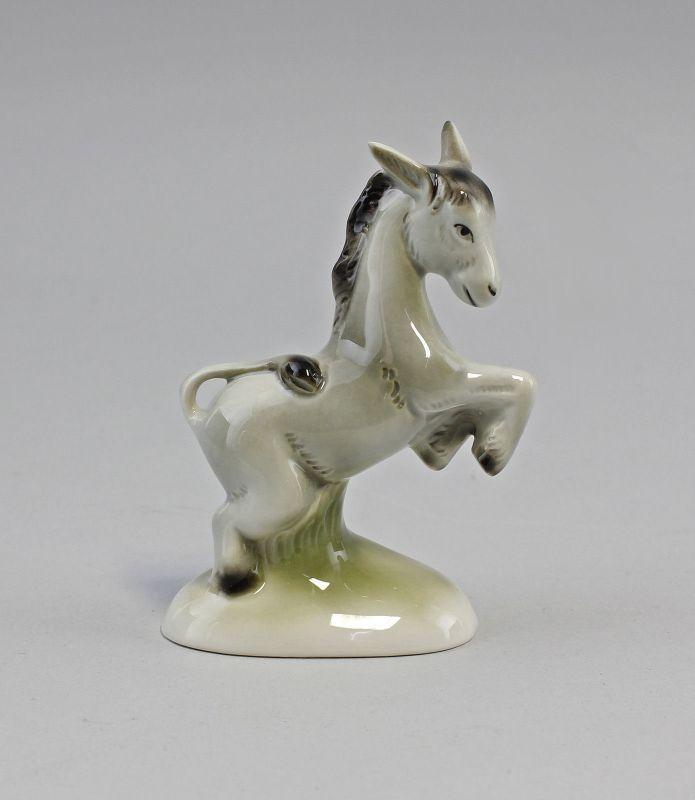 Porzellan Figur Kleiner Esel Wagner & Apel 7x4x10cm 9942665