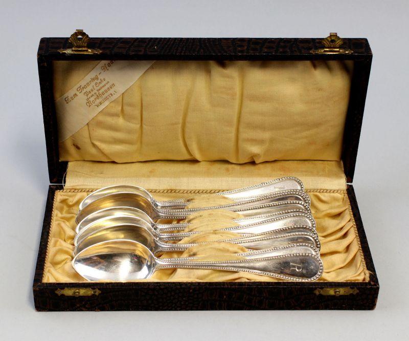 8330005 11 silberne Speiselöffel 800er Silber 324 g Speisebesteck Perlband