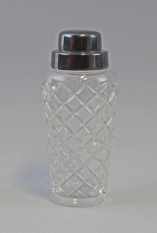 8330002 Antiker Bar-Shaker WMF Kristall-Glas mit versilberter Montierung