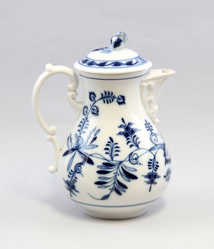 8340090 Porzellan Kaffeekanne Teichert Zwiebelmuster Blaudekor um 1900