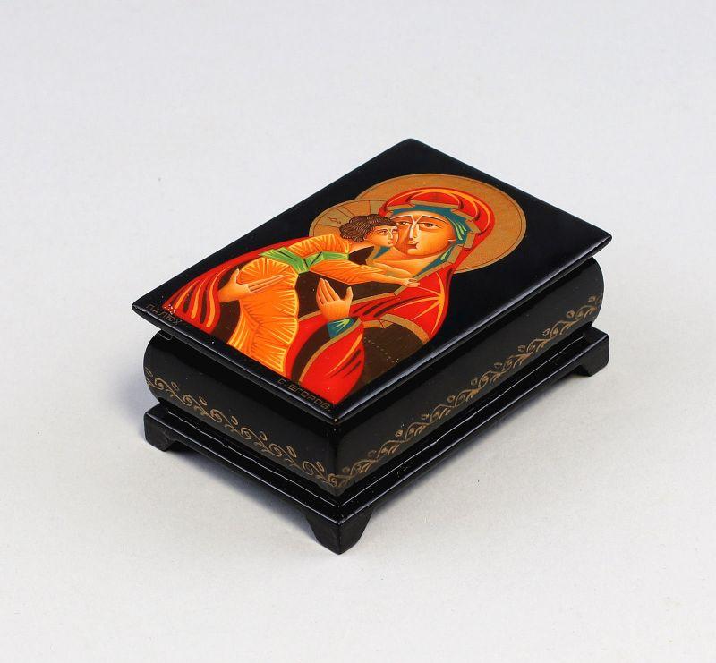 8369003 Lackkunst-Dose Ikonenmalerei Palech Gottesmutter von Wladimir
