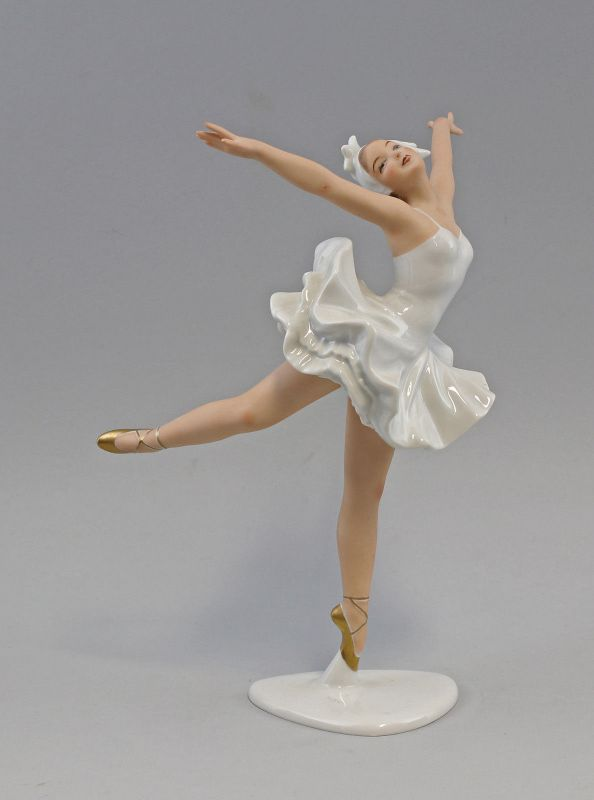 8340007 Porzellan-Figur Ballerina Weimar Porzellan Schaubachkunst Wallendorf