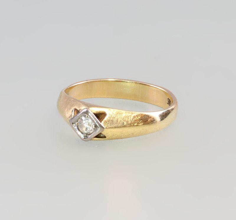 8325187 Brillant-Ring 585er GG Gold Gr. 59