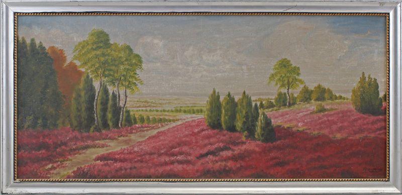8360147 Öl-Gemälde sign. Kroneberger Jena 1929 Heidelandschaft