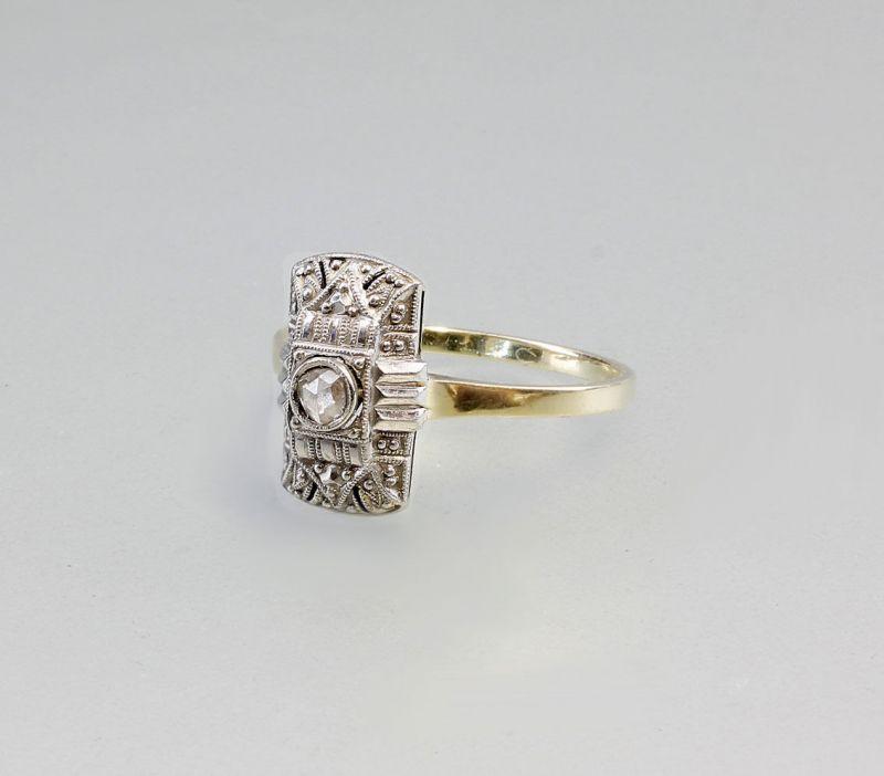 8325158 Brillant-Ring Art deco 585 Gold Brillant im Rosenschliff