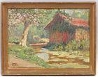 8360121 Öl-Gemälde signiert Ralph Czikan Landschaft Südfrankreich Provence Hütte