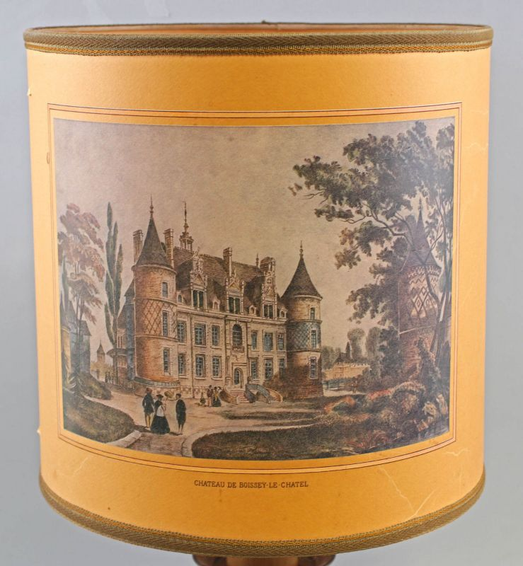 8368006 Tischlampe Denz Neheim-Hüsten Chateau De Boissey-Le-Chatel H60cm 1