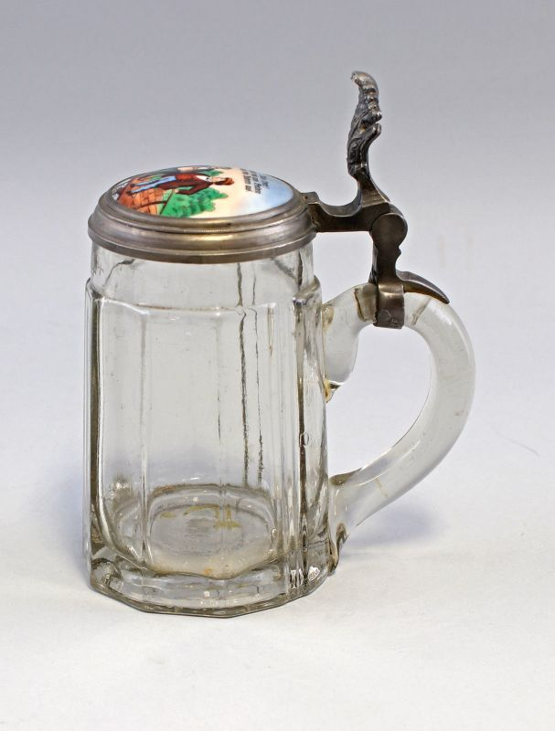 8348048 Glas-Bierkrug mit Porzellandeckel