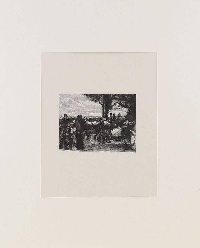 8363046 Orig.-Holzschnitt Max Liebermann Korso auf dem Monte Pincio Heyder 1922