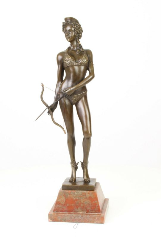 Bronze Skulptur Diana Göttin der Jagd Figur neu erotisch 99937623-dss