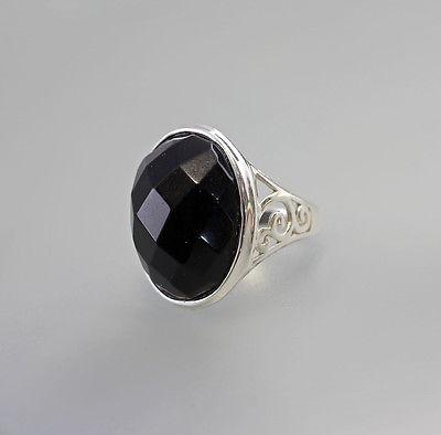 925er Silber Silberring mit Onyx  Gr. 55  Neu  9907072