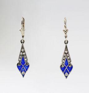 Ohrringe mit Swarovski-Steinen und Email  9901135