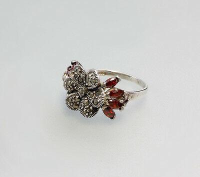 925er Silber Zirkonia-Markasiten-Ring  Gr.57  Neu  9907095