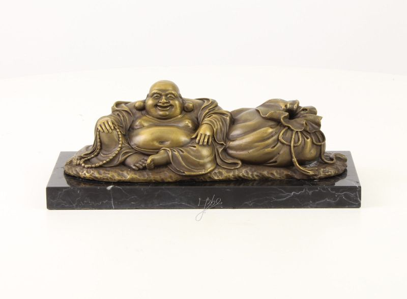 Bronze Skulptur Hotai der lachende Buddah Figur neu 99937659-dss