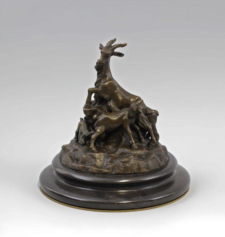 Bronze Ziegengruppe nach Bistolfi 9937938