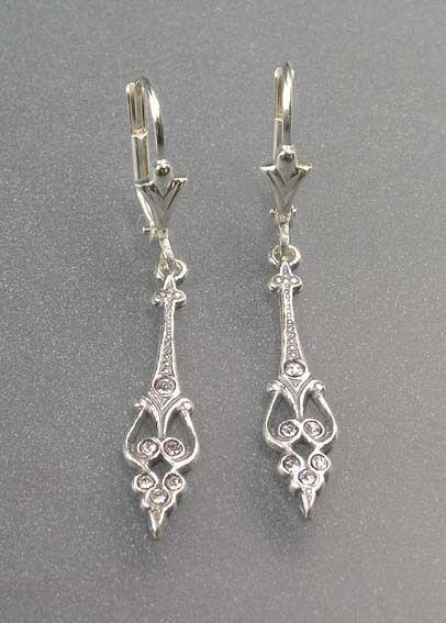 925er Silber Ohrhänger mit Swarovski-Steinen NEU 9901041