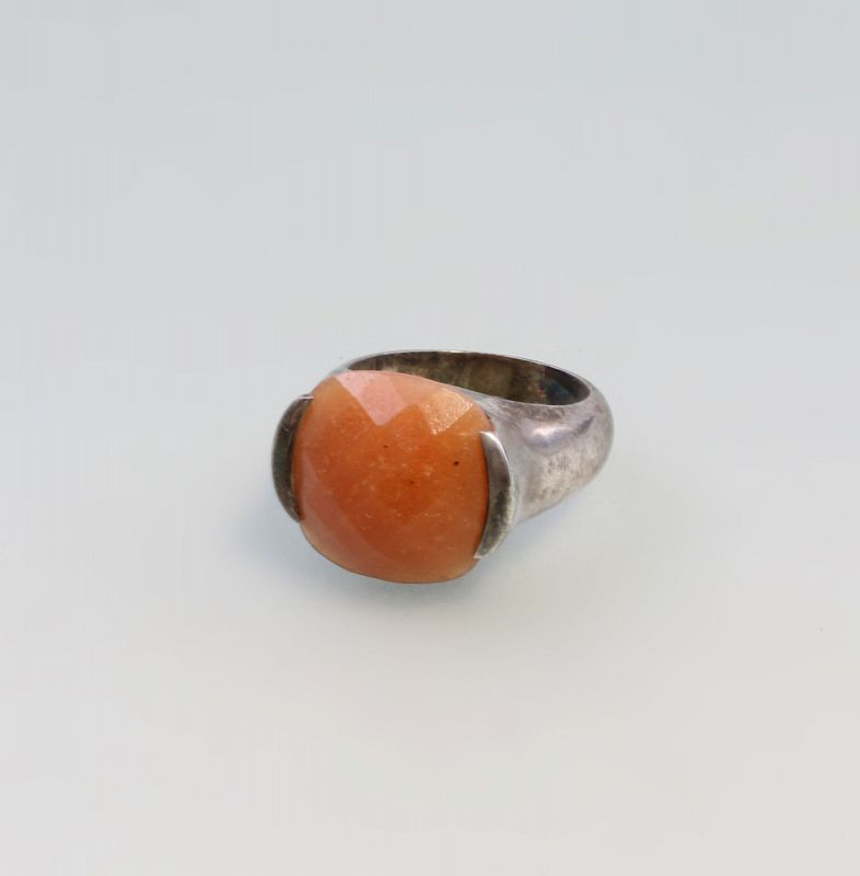 Silberner Karneol-Ring 925er Silber 10,54 g  Gr. 57,5 9927065