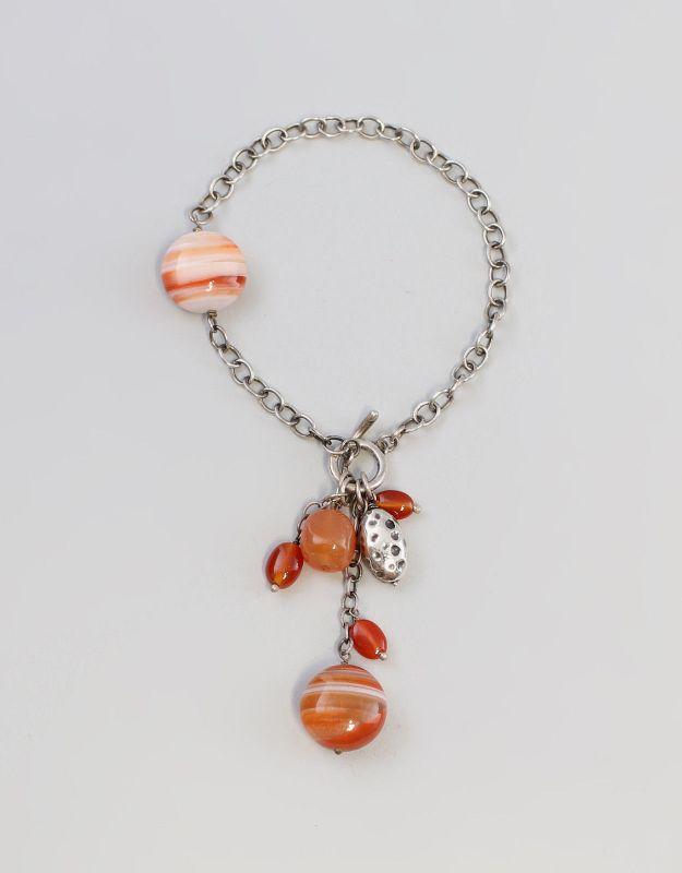 Silbernes Karneol-Armband 925er Silber 9927067