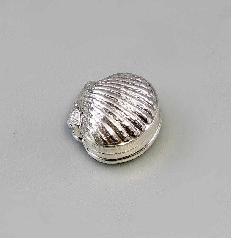 925er Silber Pillendöschen Muschel Neu 9907126