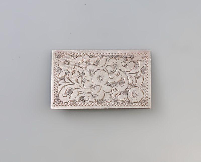 Florale Silber Brosche 99825449