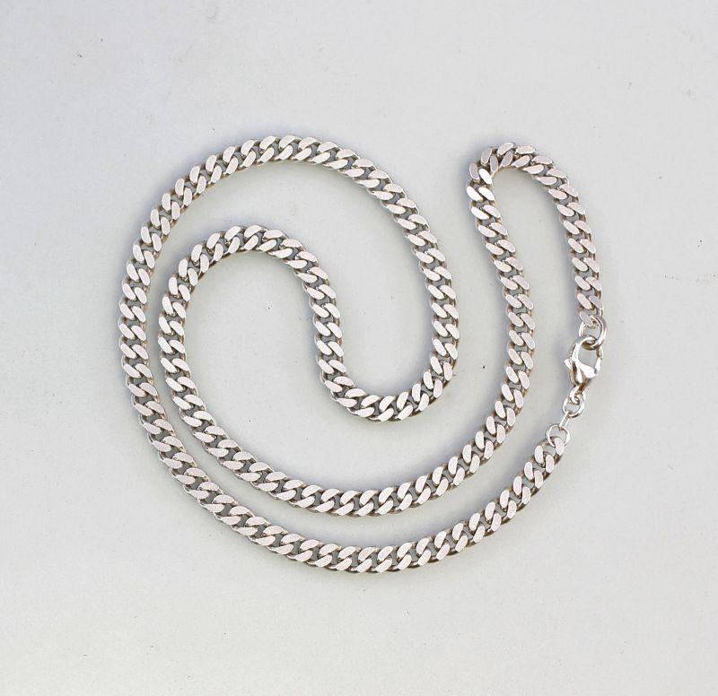 Silberne Flachpanzerkette 925er Silber L 50 cm 99825371