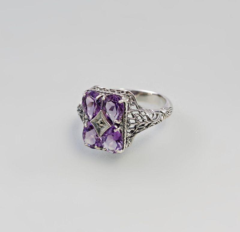 925er Silber Amethyst-Ring Gr. 57 9927263